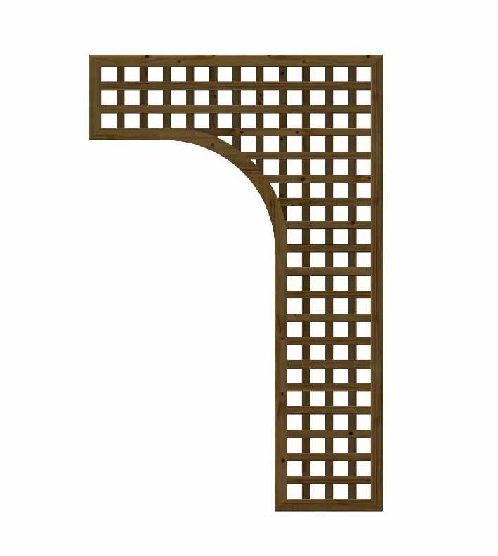 Grigliati In Legno Per Portico Maglia 54 Mm Quadra Lux