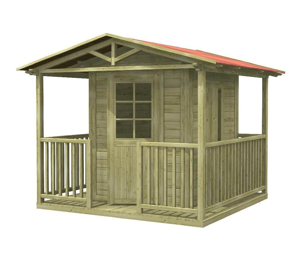Casetta per bambini principessa in legno impregnato for Grande casetta per bambini