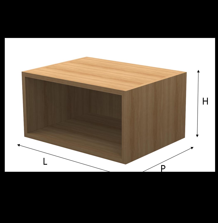 Modulo q box legno su misura for Scaffali in legno componibili