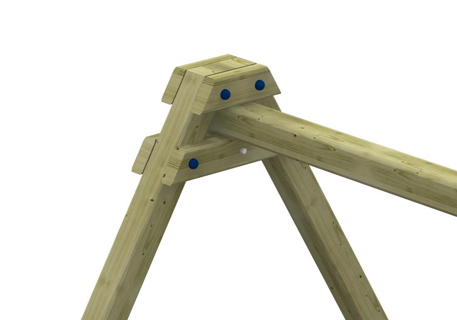 Raccordo in legno per altalena a pali quadrati negozio for Altalena legno usata