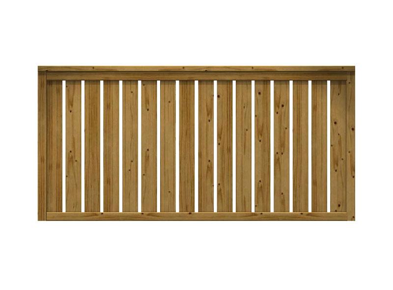 Recinzione in legno impregnato daria for Recinzione legno