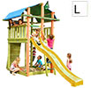 Torretta gioco Fort Jungle Gym con scivolo e arrampicata uso privatoin vendita online da Mybricoshop