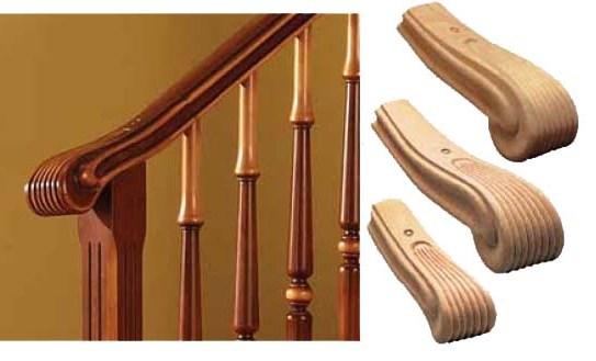 Riccio per corrimano negozio online - Corrimano per scale interne in legno ...
