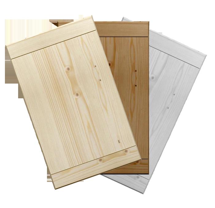 Antine in abete massello rustica su misura for Antine in legno grezzo per cucina
