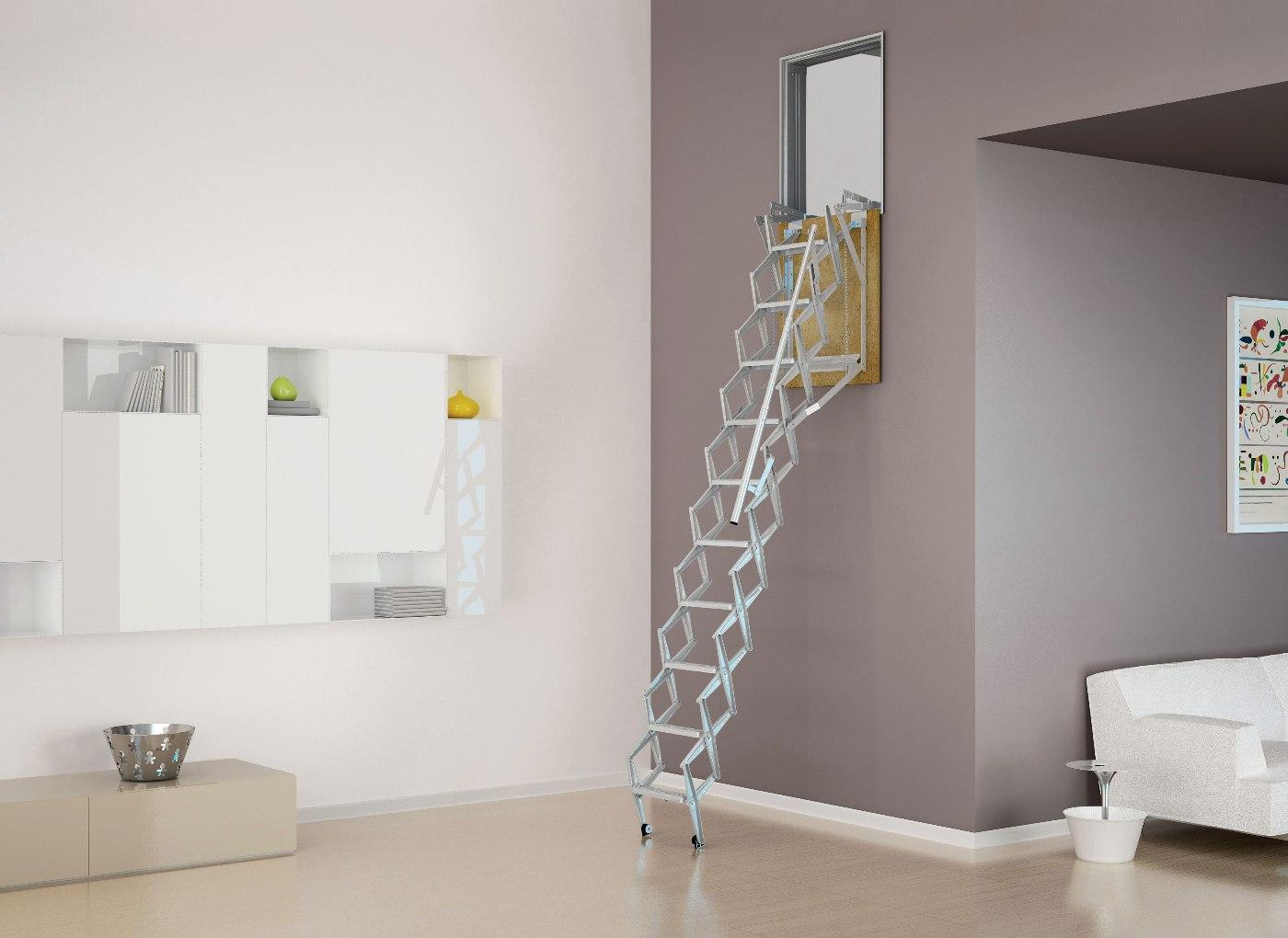 Scala retrattile per pareti a pantografo negozio online - Scale a parete ...