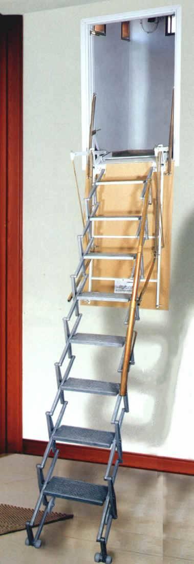 Scala retrattile per pareti a pantografo - Scale a parete ...