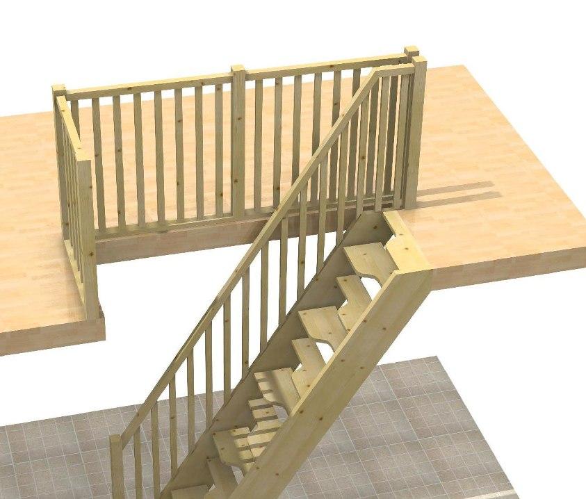 Scala spazi ristretti a papera for Coprigradini per scale in legno