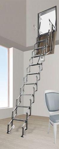 Scala retrattile per pareti a pantografo negozio online - Scale retrattili a parete ...