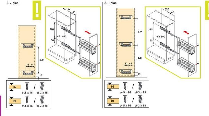 Elemento estraibile portaoggetti per spazi ristretti for Piani artigiani per lotti stretti