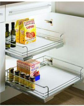 Cassetti per moduli da 30 a 60 per vani ante battenti di cucine