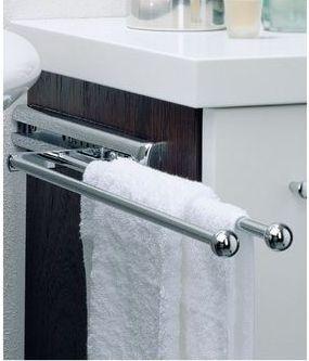 Portasciugamani estraibile per bagno - Accessori bagno fai da te ...