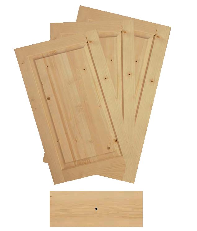 Antina e frontale per cassetti in legno d 39 abete - Cucine legno grezzo ...