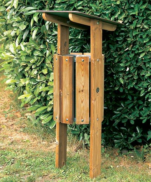 Cestino in legno per esterni sidney for Vendita arredo urbano