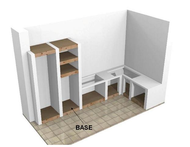 Base per cucine in muratura su misura - Struttura cucina in muratura ...