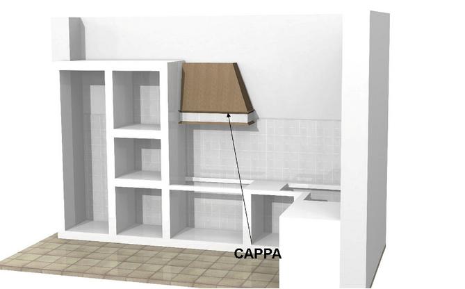 Cappa per cucine in muratura - Struttura cucina in muratura ...