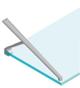 Staffe Mensole Vetro.Supporto A Braccio Mensole In Vetro