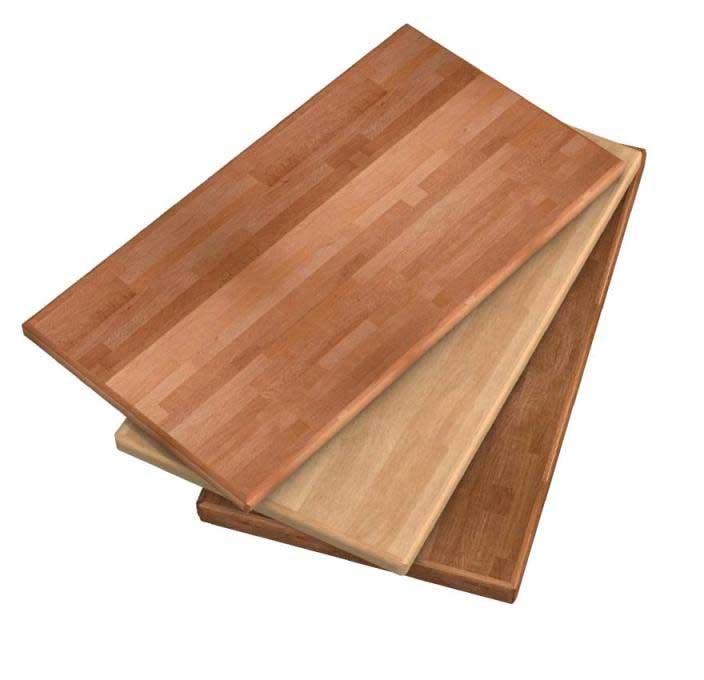 Piano cucina in legno lamellare massello for Tavoli per cucina in legno