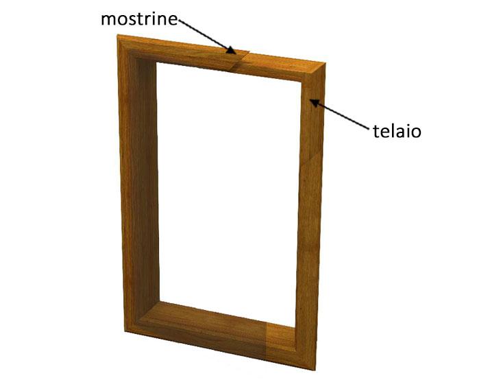 Telaio in legno per anta singolo for Cornici a giorno misure standard