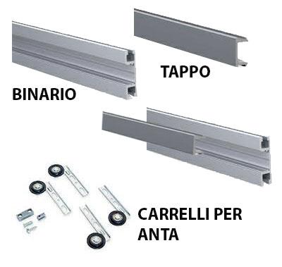 Carrelli Scorrevoli Per Ante Armadi.Sistema Per Ante Scorrevoli Multiple Tetra Da 25 Kg