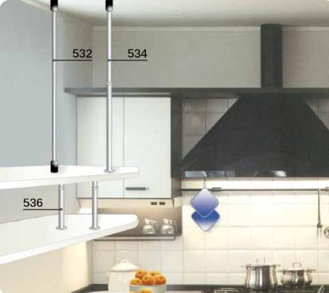 Top cucina ceramica tiranti per mensole sospese - Mensole acciaio per cucina ...