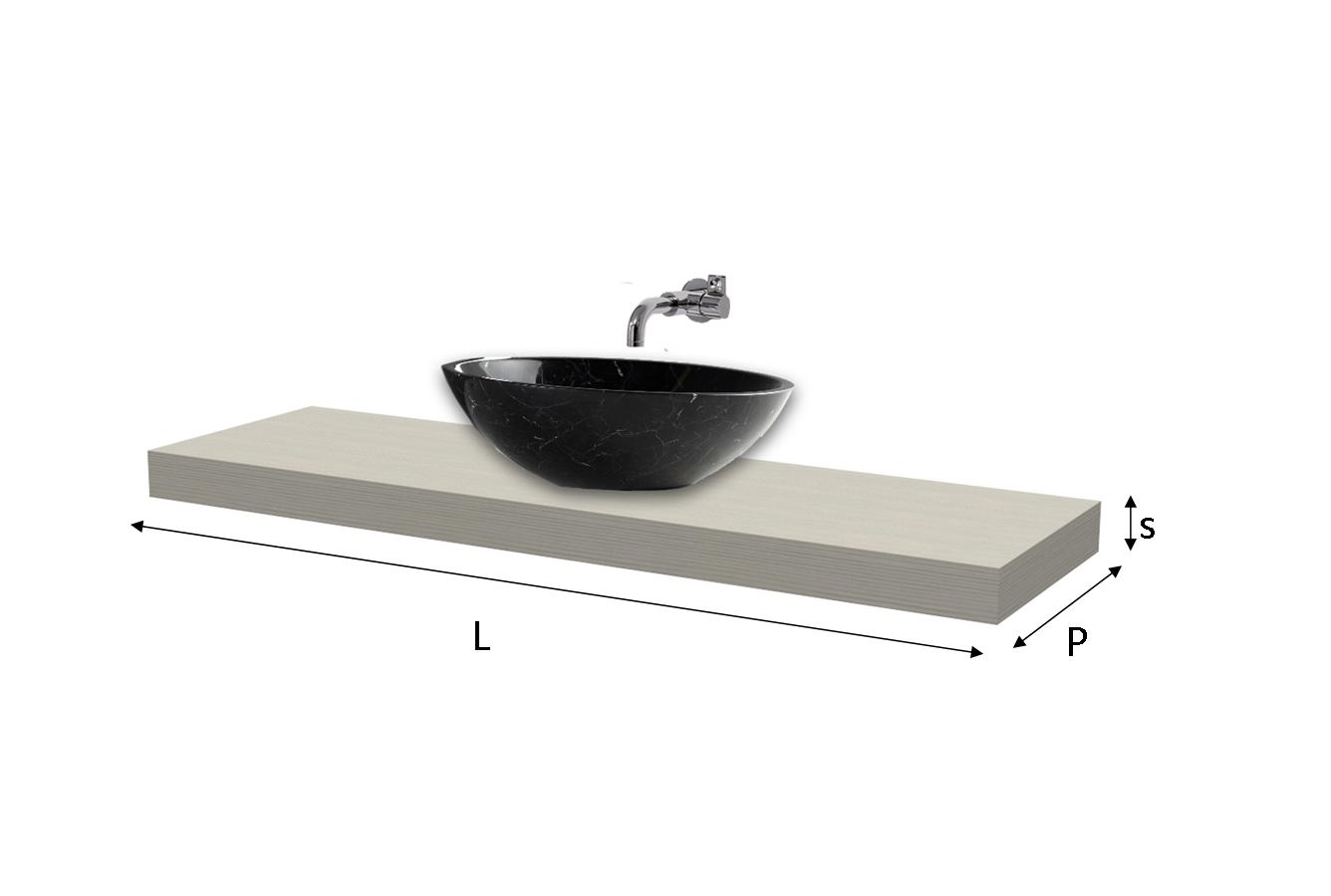 Top lavabo laminato su misura - Top bagno su misura ...