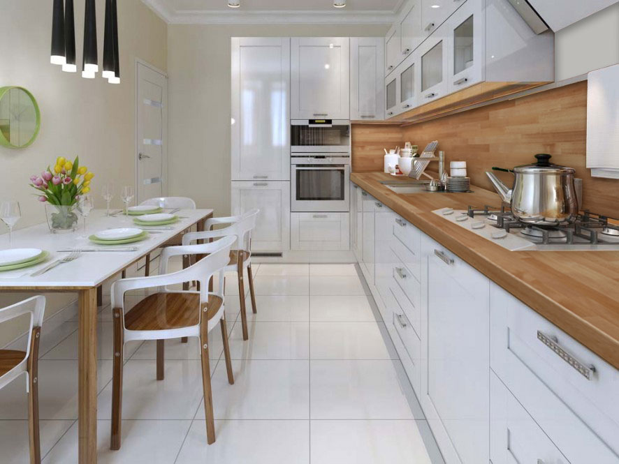 Top per cucine in legno lamellare massello
