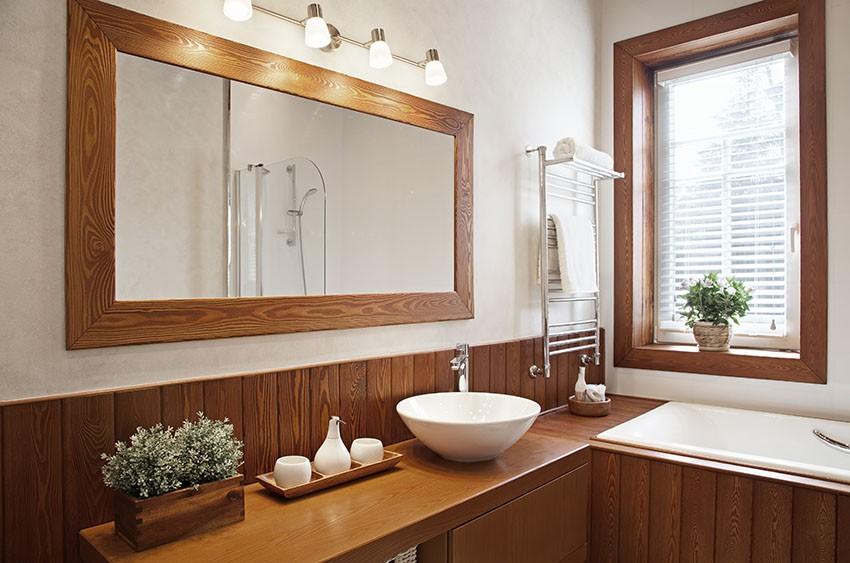 Top lavabo legno massello su misura - Top legno massello bagno ...