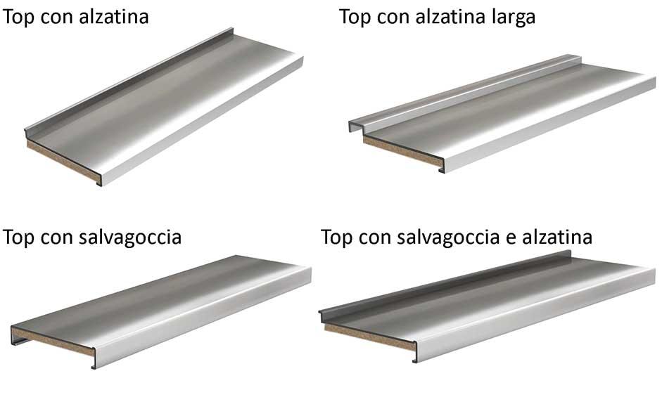 Top per cucine in acciaio inox negozio online - Top cucina acciaio inox prezzo ...