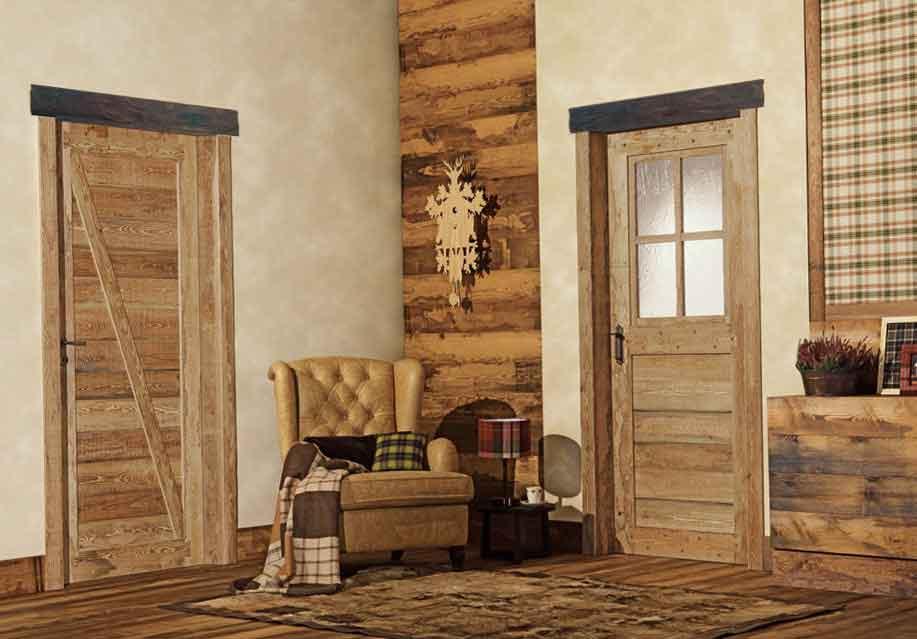 Architrave rustica in legno per porte