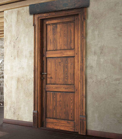 Architrave rustica in legno per porte for Porte in legno grezzo