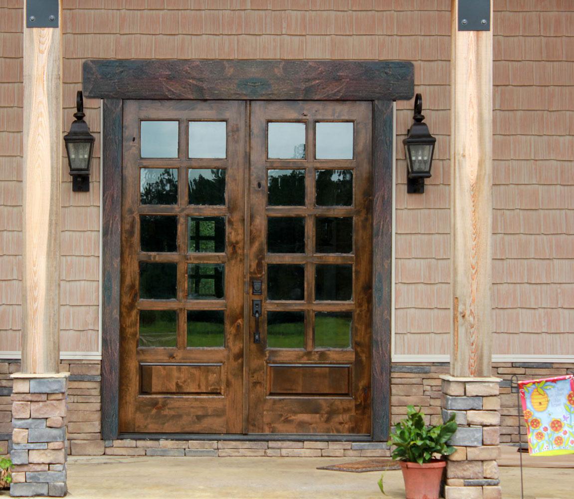 Lesena rustica in legno per porte