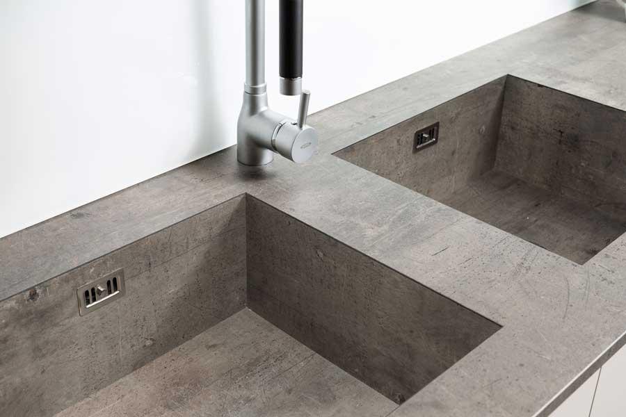 Lavello Vasca Integrato Per Top Stratificato