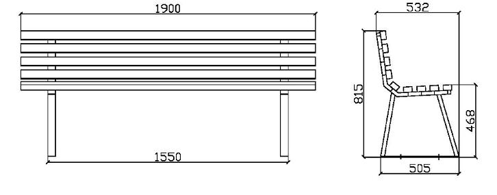 Dimensioni Panchine Da Giardino.Panchina Venezia