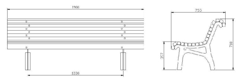Dimensioni Panchine Da Giardino.Panchina Vienna