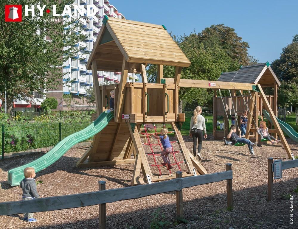 spesso Parco giochi con scivolo e altalena per uso pubblico Hy Land ROLLY  NM81