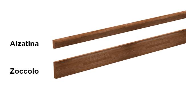 Alzatine e zoccoli in legno massello