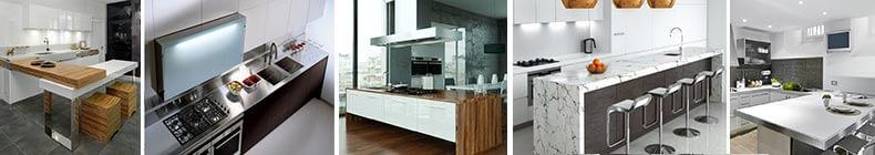 Top, piani tavolo e schiene per cucina su misura