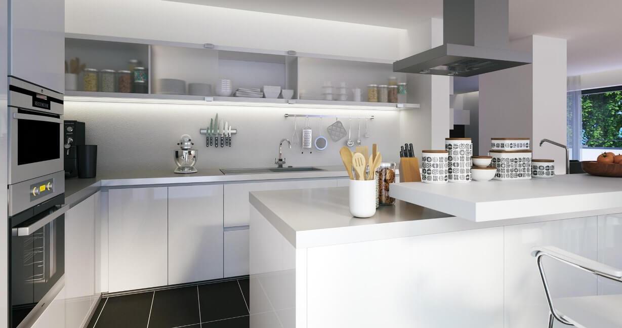 Isola per cucine in acciaio inox - Top cucina quarzite ...